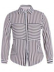 Plus Size Striped Shirt -
