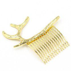 Antler Decorated Hair Comb -