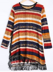 Multi Stripe Long Sleeve Dress