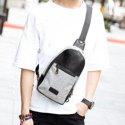 Stitching Color Block Messenger Bag