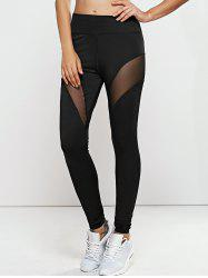 Quick -Dry Mesh Spliced Yoga Leggings Pants