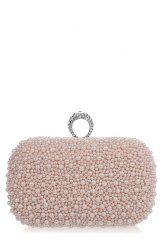 Métal Entretenu perlage Evening Clutch -