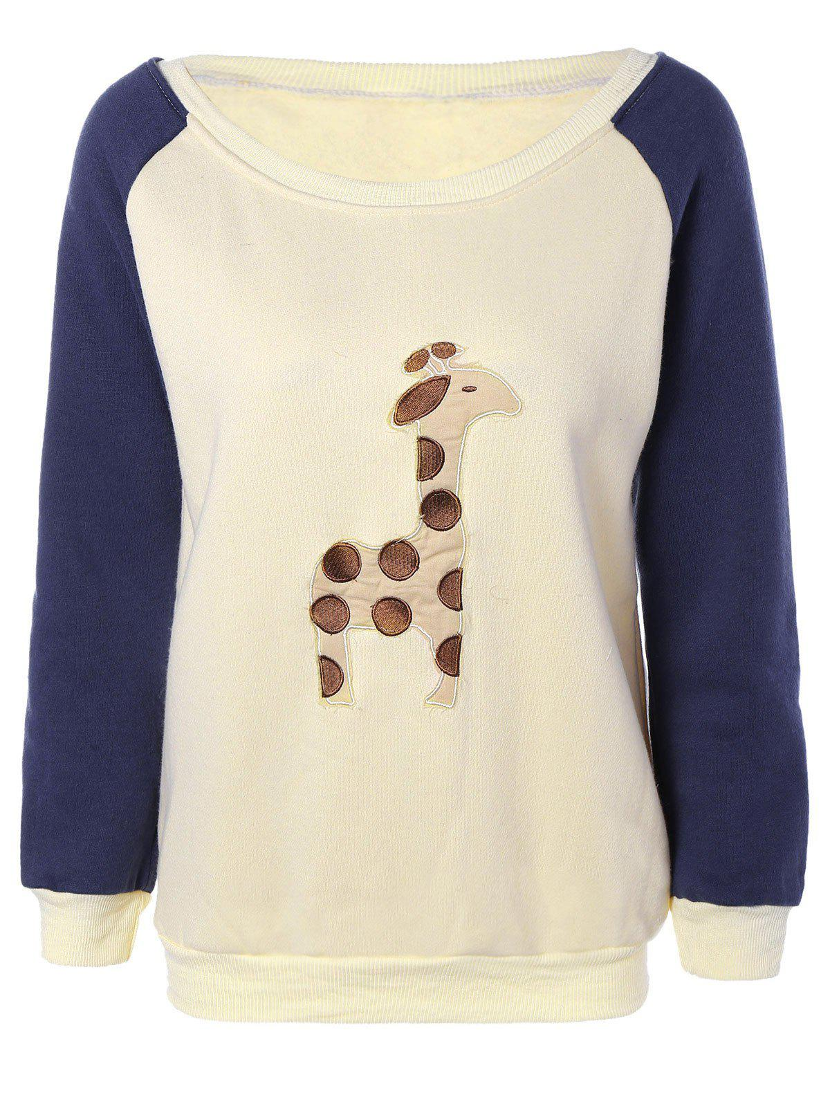 Latest Raglan Sleeves Fleece Deer Sweatshirt