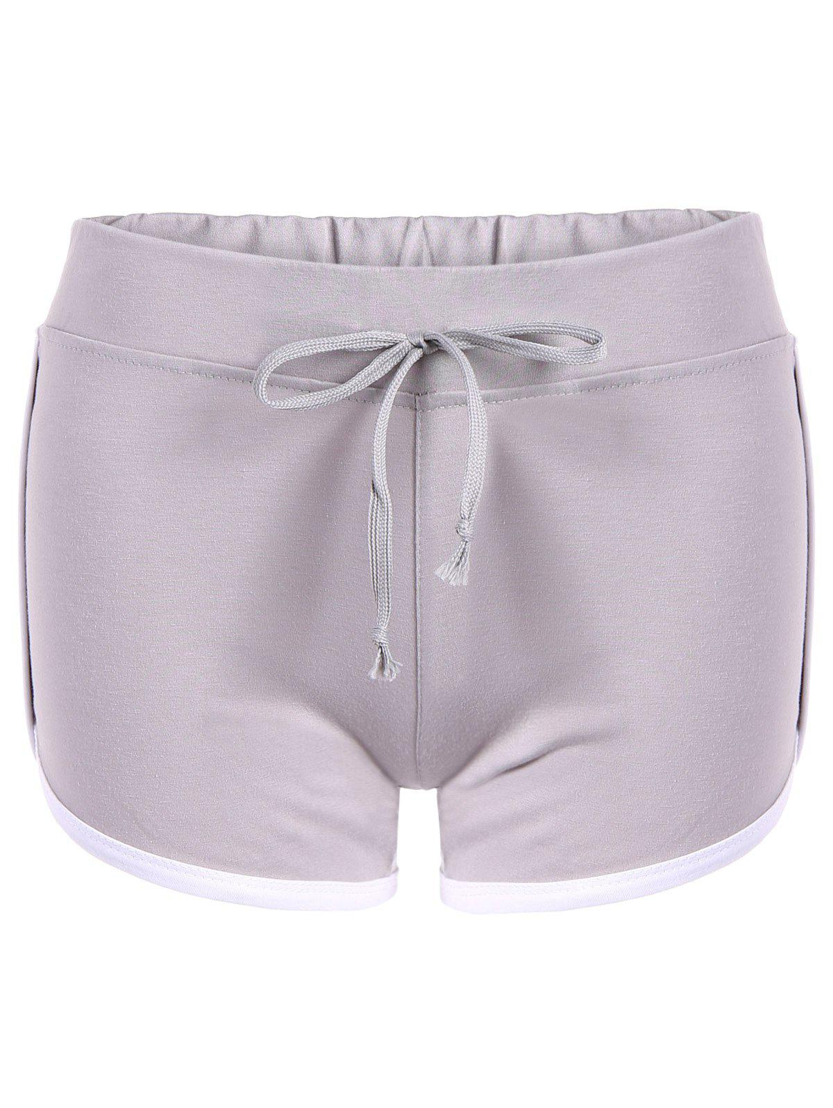 Drawstring Waisted Straight Sporty Shorts M