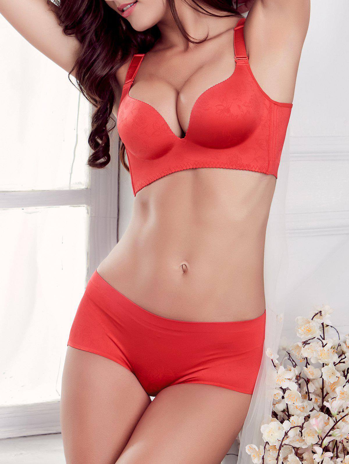 Ensemble Soutien-gorge Push-up Sans Fil