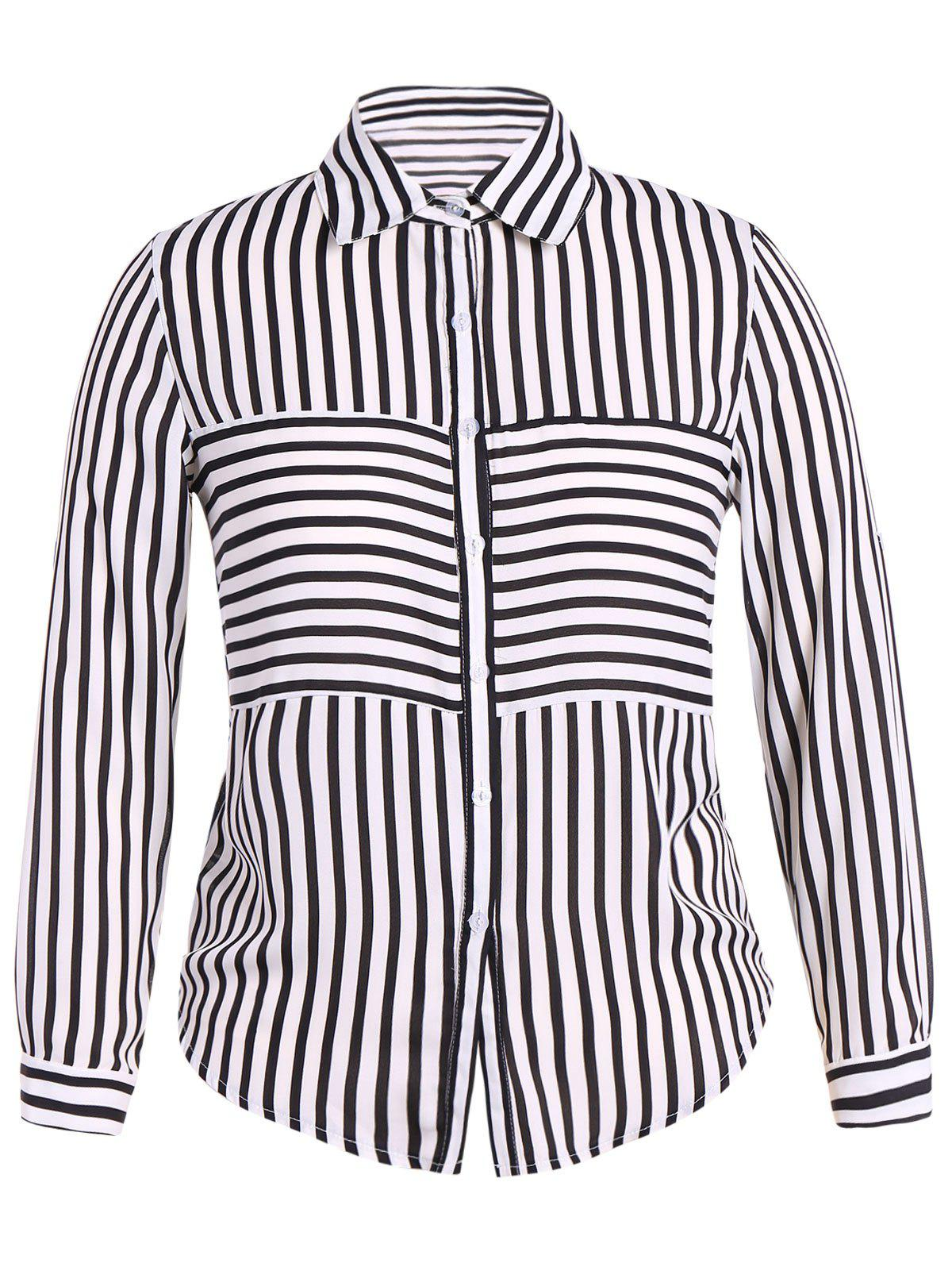 Sale Plus Size Striped Shirt