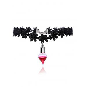 Alloy Floral Blood Halloween Choker Necklace