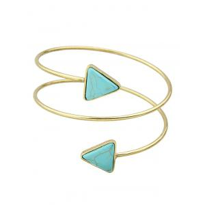 Faux Turquoise Triangle Arm Chain Jewelry