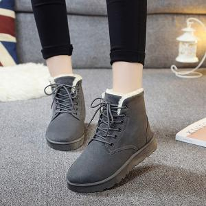 Suede Lace Up Ankle Boots