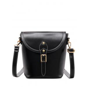 PU Leather Stitching Buckle Crossbody Bag