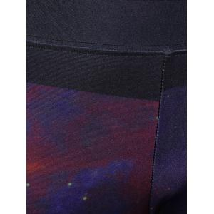 Starry Sky Print 3D Skinny Yoga Leggings - COLORMIX ONE SIZE