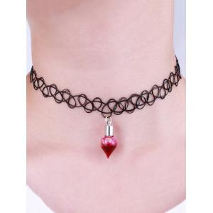 Alloy Blood Tattoo Halloween Choker Necklace - BLACK
