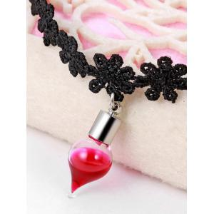 Alloy Floral Blood Halloween Choker Necklace -