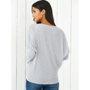 Puff Sleeves Ruched Heather Blouse -