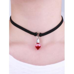 Faux Leather Round Blood Halloween Choker -