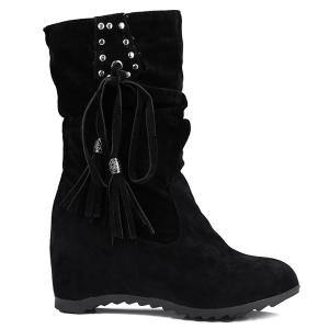 Rivet Slip On Suede Glands Coincée Bottes -
