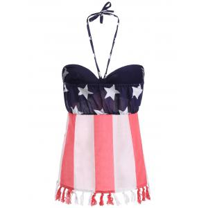 Halter American Flag Pattern Tank Top -