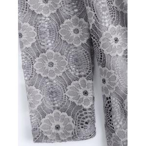 Plus Size 3D Flower Embellished Lace Dress -