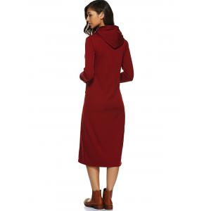 Hooded Fleece Thick Warm Long Dress -