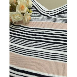 Striped Hollow Out Knitwear -