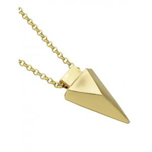 Collier avec pendentif Triangle Layered Faux Gem - Or