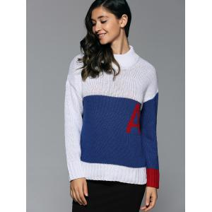 Mock Neck Initial A Sweater -