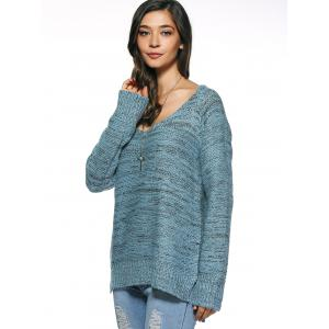 Long Sleeve Loose High Low Sweater -
