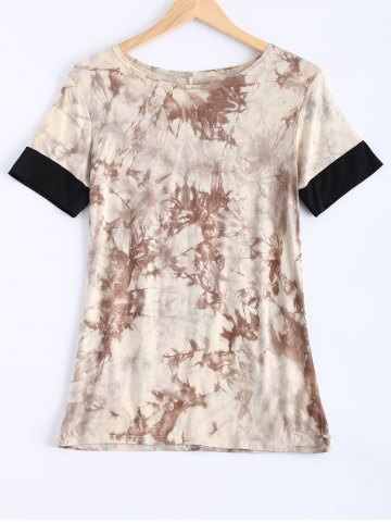 Online Short Sleeve Tie-Dyed T-Shirt
