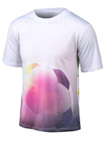 Hot Football 3D Print Round Neck Short Sleeve T-Shirt