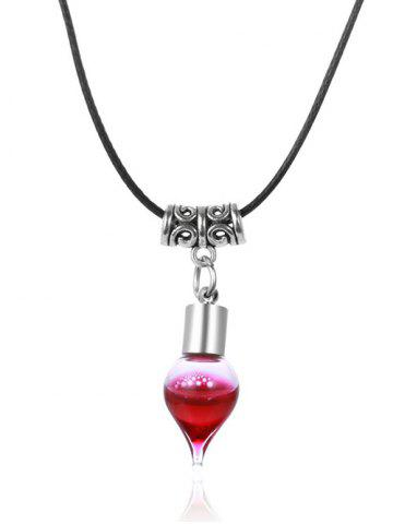 Outfits Faux Leather Rope Blood Halloween Necklace BLACK