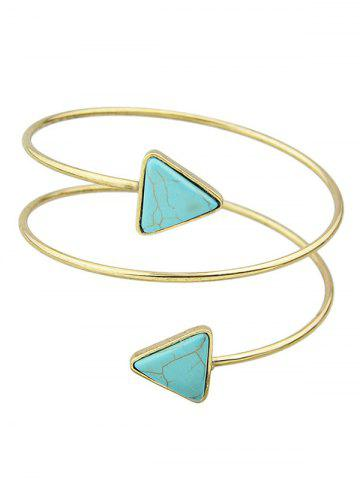 Chic Faux Turquoise Triangle Arm Chain Jewelry - GOLDEN  Mobile