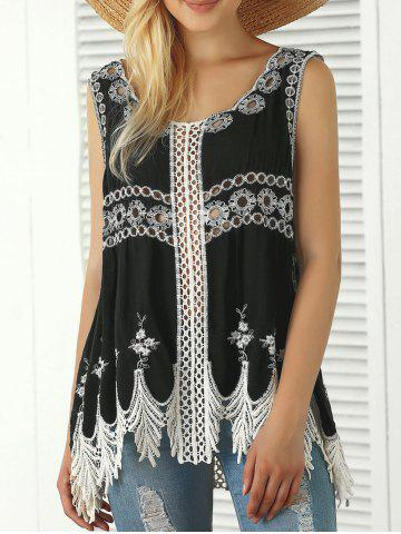 Latest Bohemian Embroidered Crochet Fringed Tank Top