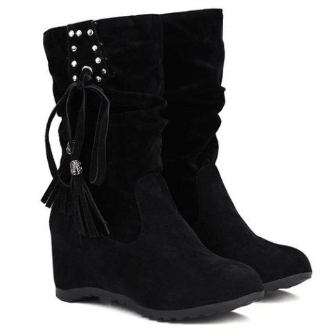 Rivet Slip On Suede Glands Coincée Bottes