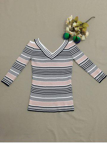 Trendy Striped Hollow Out Knitwear