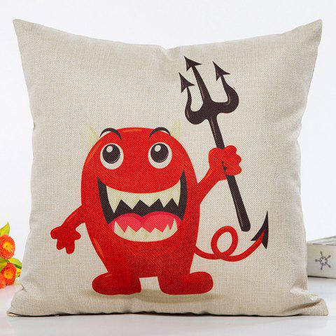 Unique Halloween Monster Pattern Cartoon Sofa Cushion Pillow Case BEIGE
