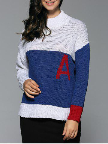 Cheap Mock Neck Initial A Sweater