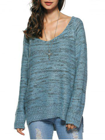 Online Long Sleeve Loose High Low Sweater