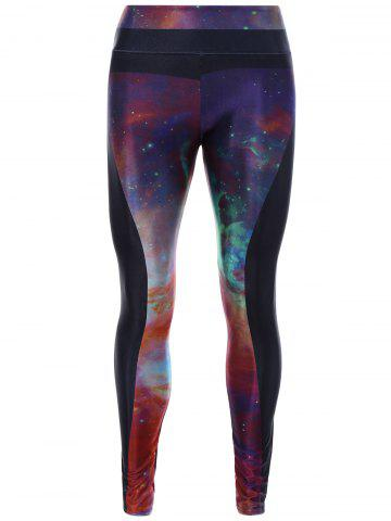 Discount Starry Sky Print 3D Skinny Yoga Leggings COLORMIX ONE SIZE