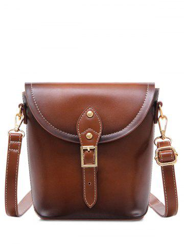 Cheap PU Leather Stitching Buckle Crossbody Bag