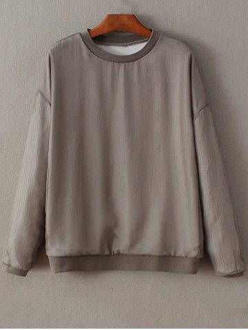 Cheap Round Neck Long Sleeve Knitting Loose Sweatshirt