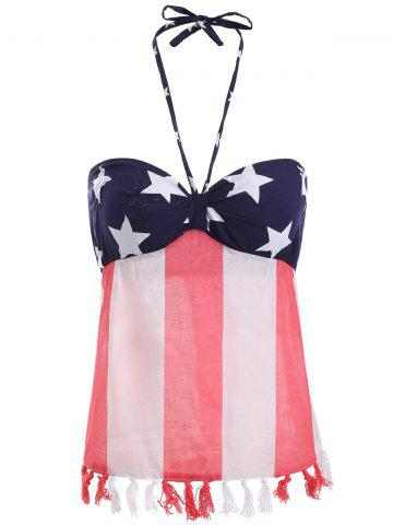 Latest Halter American Flag Pattern Tank Top