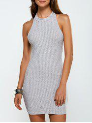 Cut Out Backless Knitted Vest Jumper Dress