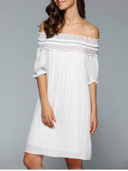 Bohemian Off The Shoulder Swing Dress -