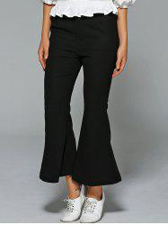 High Waisted Fitted Boot Cut  Pants -