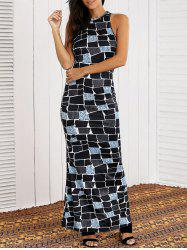 Sleeveless Geometric Racer Back Dress