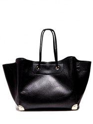PU Leather Metal Corner Magnetic Shoulder Bag -