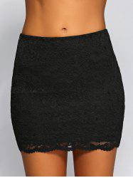 Scalloped Edge Lace Skirt -
