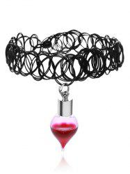 Alloy Blood Tattoo Halloween Choker Necklace