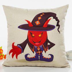 Halloween Wizard Cartoon Character Sofa Cushion Pillow Case -