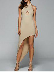 Halter Neck Backless Cut Out Dress -